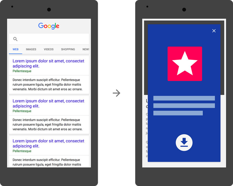 google penalizara interstitial apps
